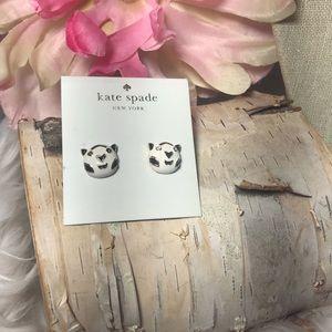 Kate Spade Panda B & W Earrings